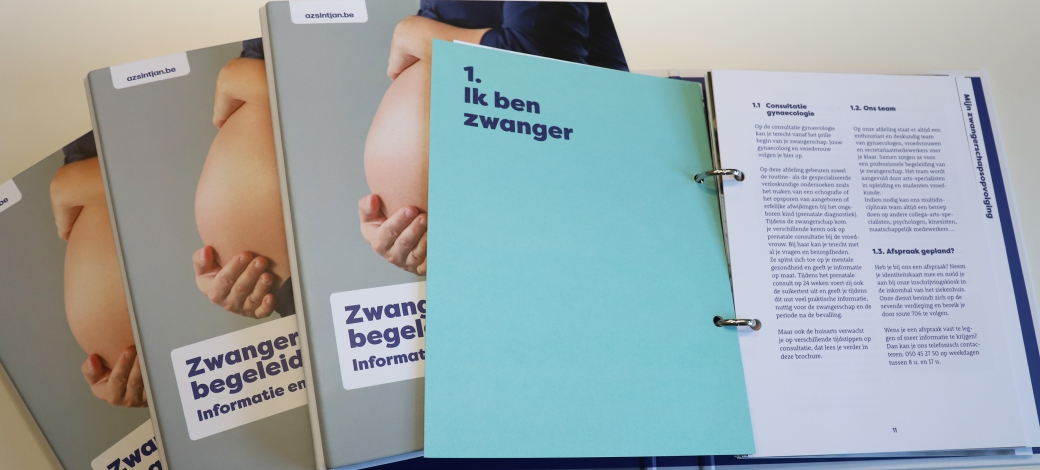 Gloednieuwe map Zwangerschapsbegeleiding
