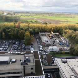 Foto werken nieuwe parkeertoren Campus Sint-Jan