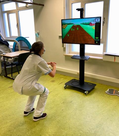 Interactieve training bovenste en onderste ledematen in ergotherapie