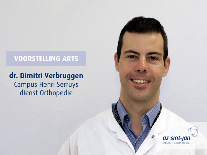 Dr. Verbruggen Dimitri orthopedie campus Henri Serruys Oostende