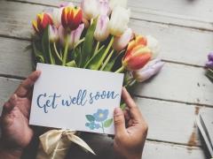Get well soon - met tulpenboeket